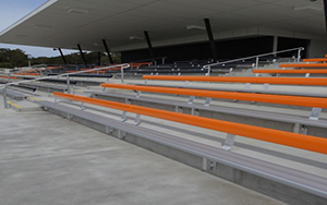 EDSAAC Oval Central Coast NSW Aluminium Bench Seating - 4 Banks