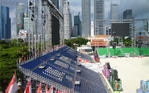 Singapore National Day Parade 2010: Portable Stadium Tiered Seating