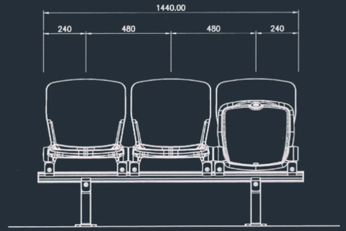 Apollo 2863/2865 Series | Stadium & Arena Seating
